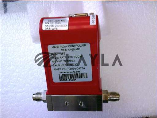 3030-04784//MFC   4400 200SCCM WF6 1/4VCR MTL 9P-D N/Applied Materials/_01