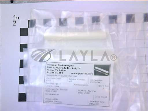 "0020-25897//TUBE INSULATOR, 3.60""/Applied Materials/_01"