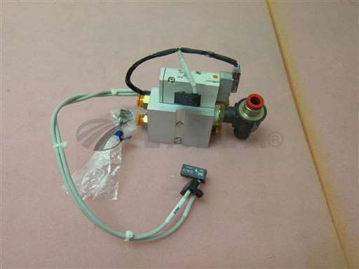 SYJ714R-5MOZ/-/SMC SYJ714R-5MOZ manifold assembly, 3 SMC D-A73 reed auto switch, 400315/SMC/-_01