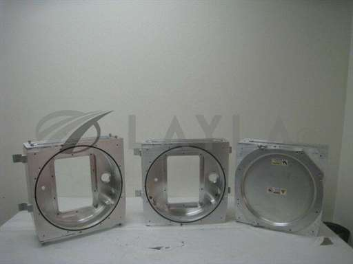 """-/-/3 Aluminum Vacuum Chambers,18""""x18""""x6"""" various ports and flanges/-/-_01"""