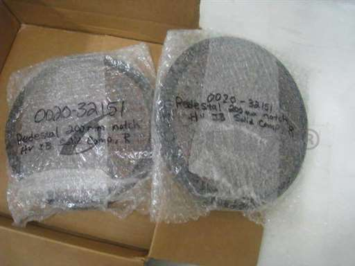 -/-/Lot of 2 AMAT 0020-32151 ESC Chuck 200mm, notch, HVIB, 0040-09797, 0010-10257/-/-_01