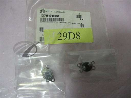 1270-01588/-/2 AMAT 1270-01588 SW Thermo SPST Open @120F Diff@30F 120v@, 419378/AMAT/-_01