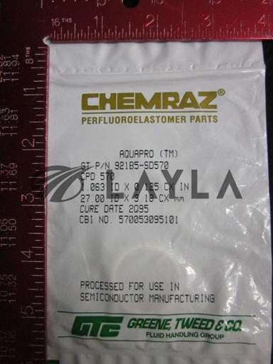"921B5-SD570/-/CHEMRAZ O-RING, CPD 570; 1.063"" (27.00mm) X 0.125"" (3.1/GREENE TWEED/-_01"