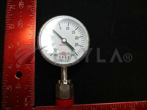 "3310-01075//Applied Materials (AMAT) 3310-01075 GAUGE PRESS 30""HG/30PSI 2""D 1/4VCR-M LWR/Applied Materials (AMAT)/_01"