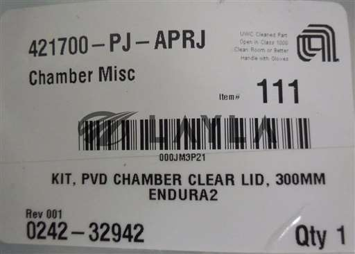 0242-32942/-/Applied Materials; 0242-32942, KIT, PVD Chamber Clear Lid, 300mm Endura2/Applied Materials/-_01