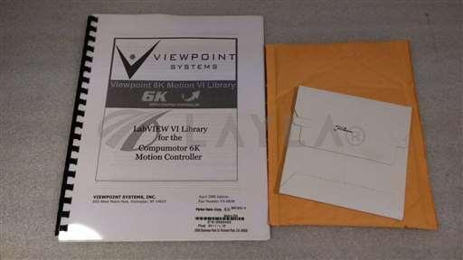 /-/Shingle & Gibb Parker, Viewpoint 6K Motion VI Library Software CD. 6KVI-LIB//_01