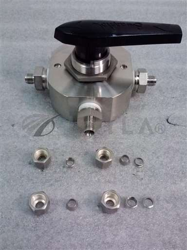 """/-/Swagelok SS-45YF8-093 4 way series 40 Ball Valve 1/2"""" with 1/4"""" adapters NEW//_01"""