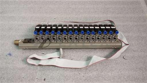 /-/SMC Manifold w/ 12 Solenoid Valves VZ110//_01