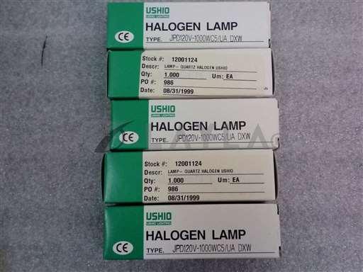 /-/USHIO JP120V-1000WC5/UA DXW Halogen Lamp Lot of (5)//_01