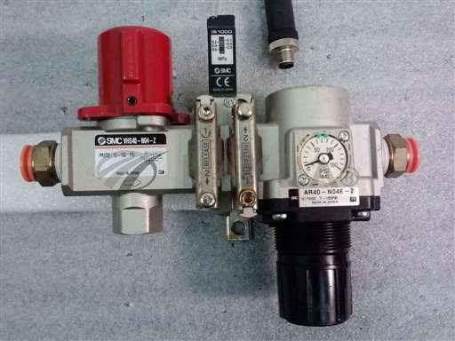 /-/SMC AR40-N04E-Z Regulator w/ Valve# VHS40-N40-Z and Pressure Switch IS1000//_01