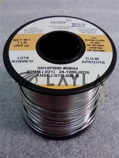 """24-1090-0026/-/Kester Solder. .80mm / .031"""". 24-1090-0026 (Case of 25 spools)/Kester Solder/-_01"""