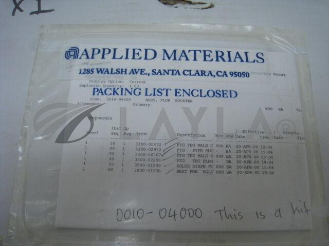 0010-04000/-/NEW AMAT 0010-04000 KIT, flow booster, regulater and fittings and bracket RG0005/AMAT/-_10