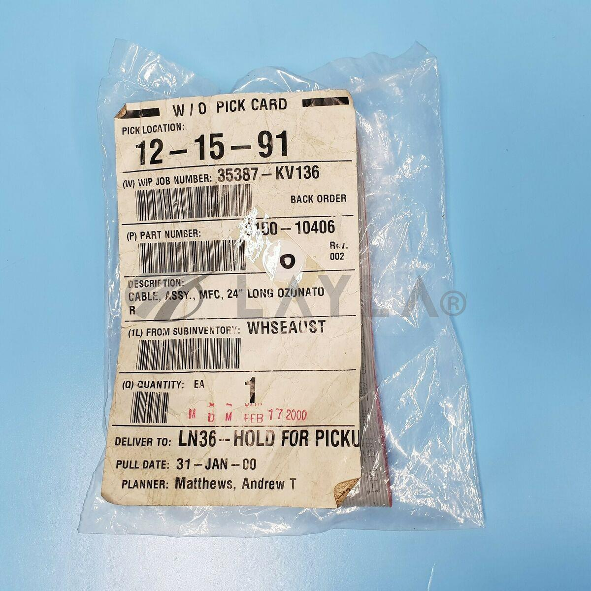0150-10406/-/142-0502// AMAT APPLIED 0150-10406 CABLE, ASSY., MFC, 24 LONG OZ NEW/AMAT Applied Materials/-_02