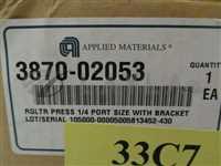 3870-02053/-/AMAT 3870-02053 Regulator Press 1/4 Port Size with bracket/AMAT/-_02