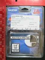 BROTHER TZ-211 BROTHER TZ TAPE BLACK PRINT ON WHITE TAPE 14 WIDTH 6MM