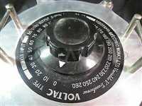 B-15//YOKOYAMA B-15 VOLTAC 3 KVA VARIABLE TRANSFORMER,INPUT 230V 50/60HZ OUTPUT 0-26
