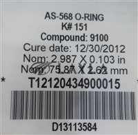 AS-568/-/Kalrez UltraPure AS-568 O-Ring K#151 Compound 9100