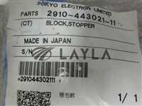 2910-443021-11/-/Tokyo Electron; 2910-443021-11, Block Stopper