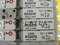 CKD N4S0-T30R 8-Port Pneumatic Manifold N3S010 Solenoid Valve Lot of 4 Used