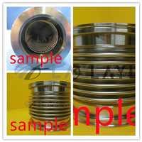MKS Instruments KF50 Stainless Steel Vacuum Flex Bellows Pipe 100 1/2 HPS USED