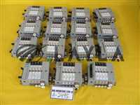 Solenoid Valve Manifold N4S0-Q Lot of 15 N4S0-E Used Working