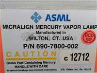 690-7800-002//ASML 690-7800-002 MICRALIGN MERCURY VAPOR LAMP