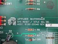 0100-35049/-/AMAT 0100-35049 ASSEMBLY PCB SYS RESET/ INTLK SEL BD/AMAT/